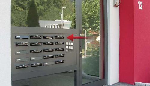 Haustür-Seitenteil Briefkastenanlagen von allebacker - alle Infos zu Briefkästen und Briefkastenanlagen im Türen-Fenster-Portal
